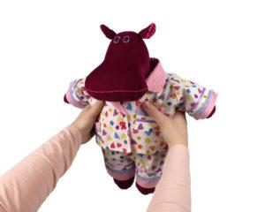 hippo doll in pjs
